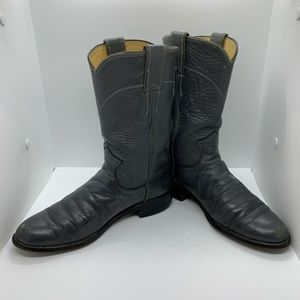 Justin Boots Shoes - Justin Gray Western Roper Cowboy Boots Sz 5.5